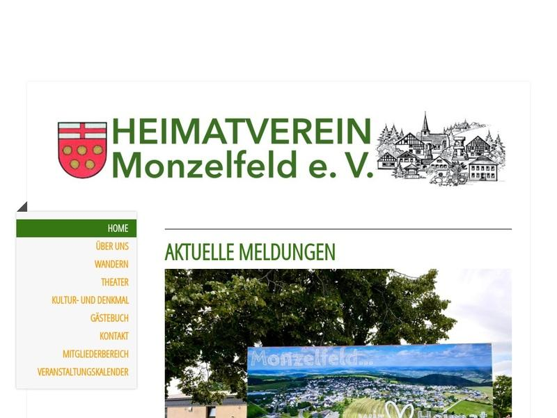 Screenshot von www.heimatverein-monzelfeld.net